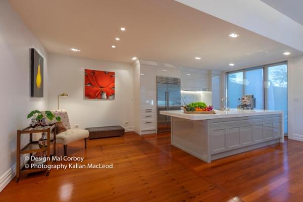 Grey Lynn Kitchen Angled Wide View