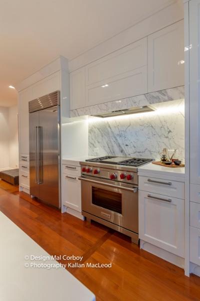 Grey Lynn Kitchen Stove and Fridge