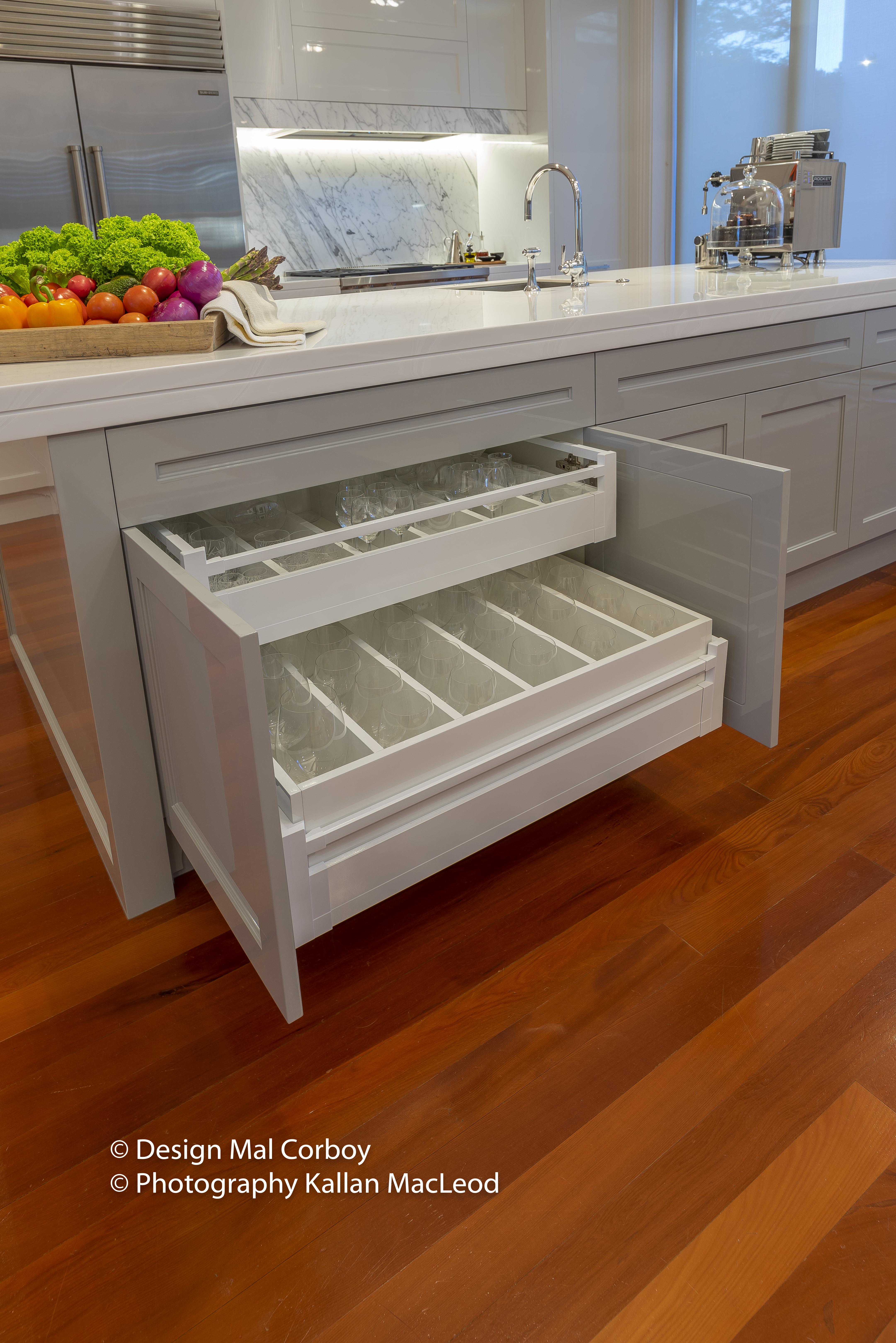 Grey Lynn Kitchen Island Drawers